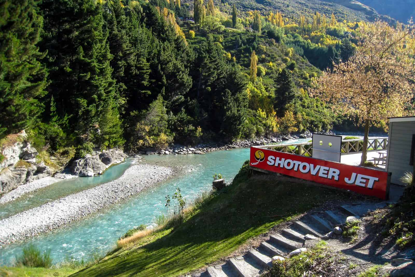 Jetboating on the Shotover River in Queenstown, New Zealand