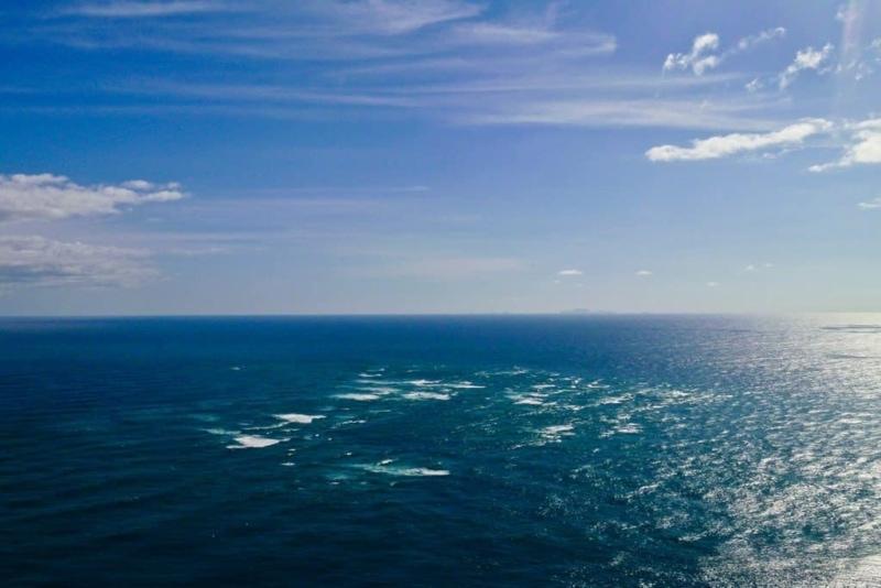 Tasman Sea and Pacific Ocean