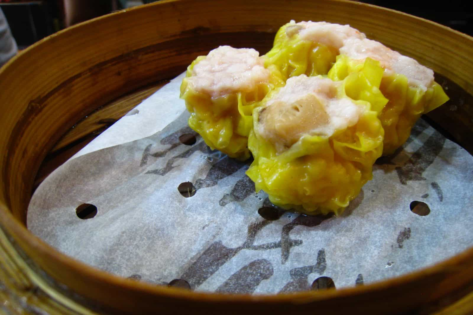 Pork and shrimp dumplings (siu mai)
