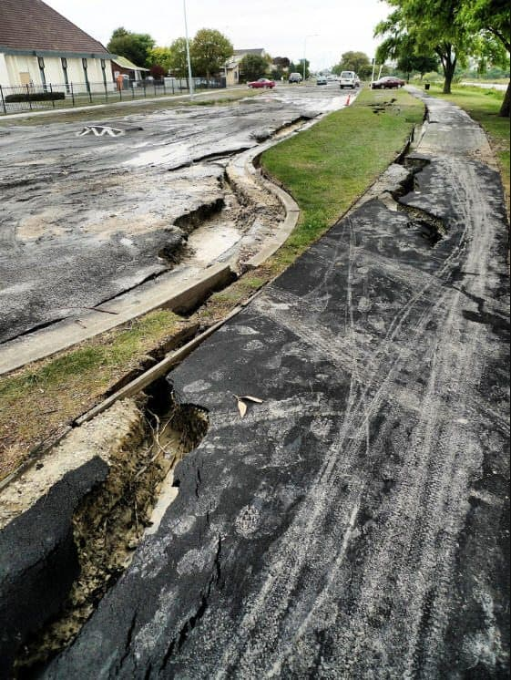 Aranui - Road Damage. Feb 22, 2011.