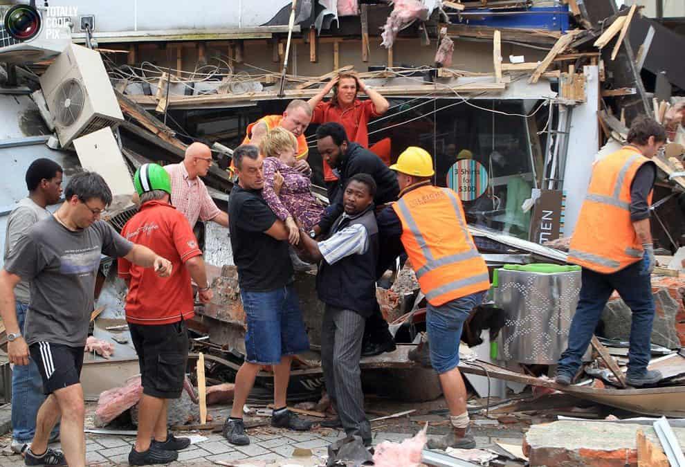 Central City - Cashel Mall - Rescue. Feb 22, 2011.