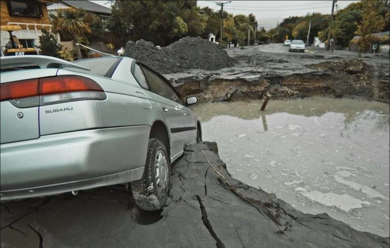 Aranui - Road Damage. Feb 23, 2011.