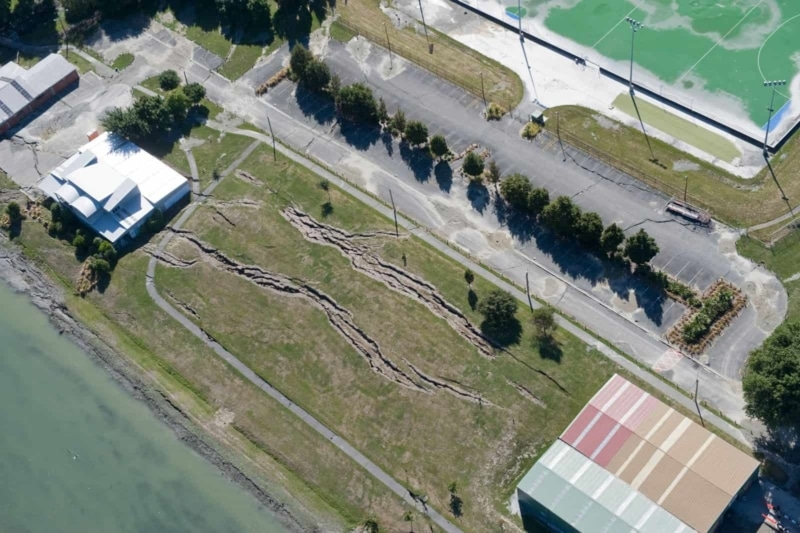 Aerial image of Wainoni Avon Loop Rowing Club. Feb 27, 2011.
