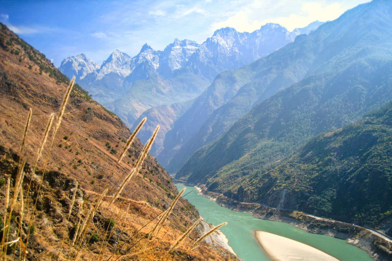 The mountains beyond Tiger Leaping Gorge