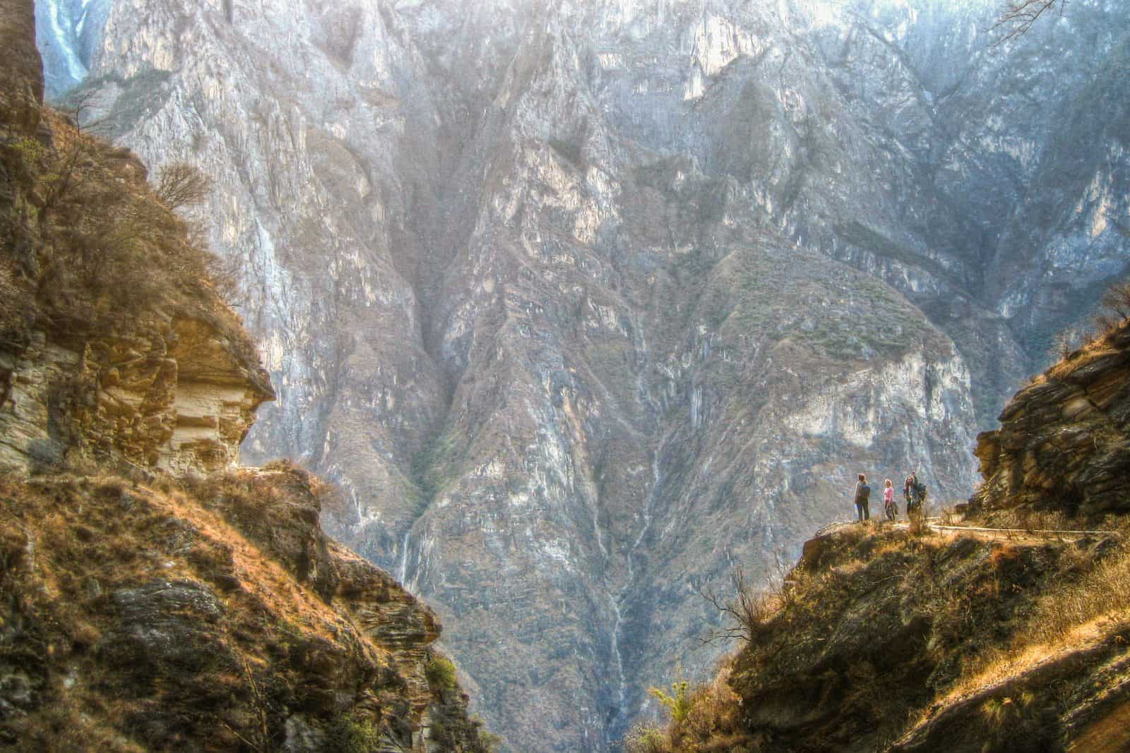 Cliffs at Tiger Leaping Gorge