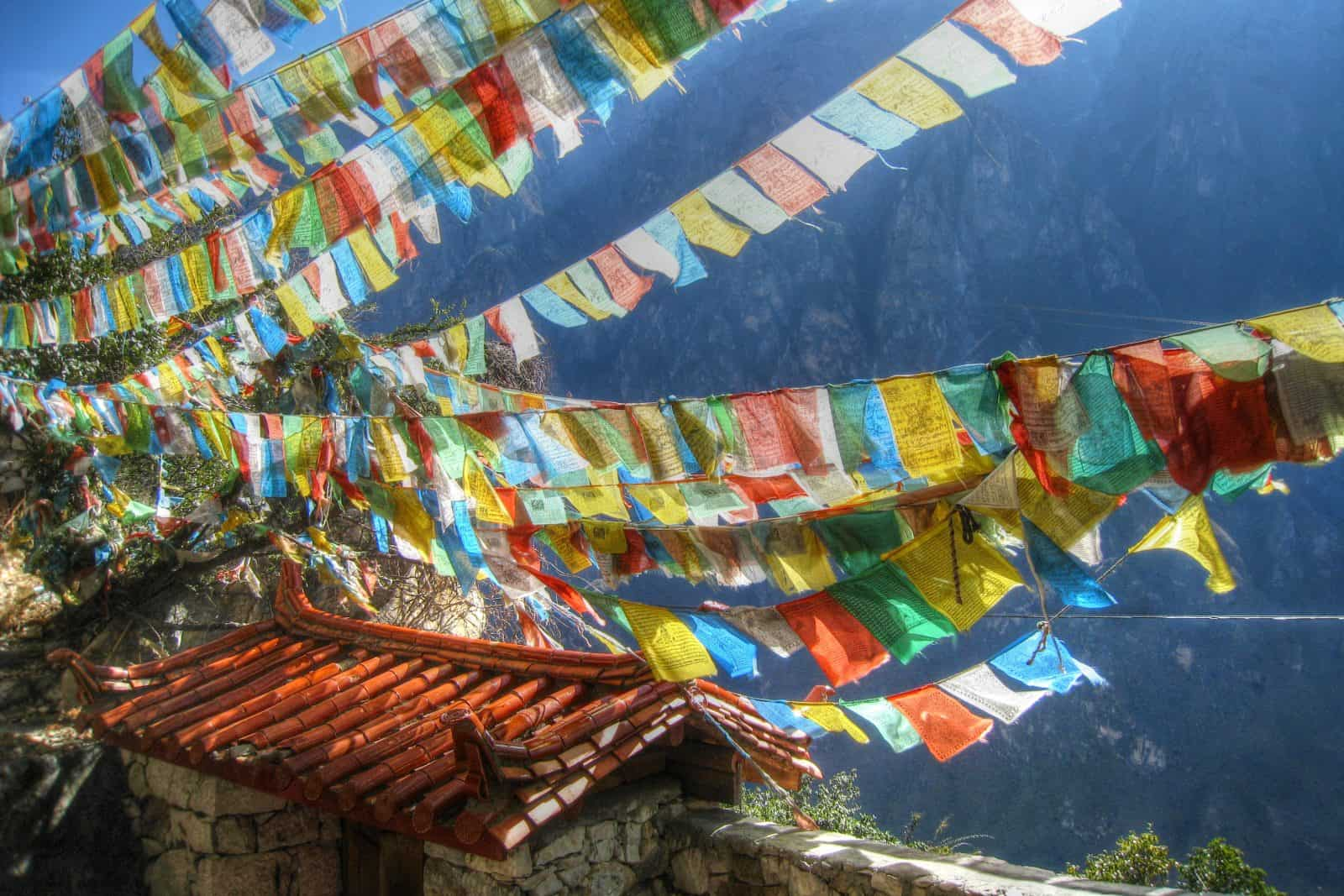 Tibetan temple in Tiger Leaping Gorge