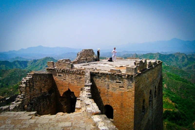 A nuclear scientist doing karate on The Great Wall