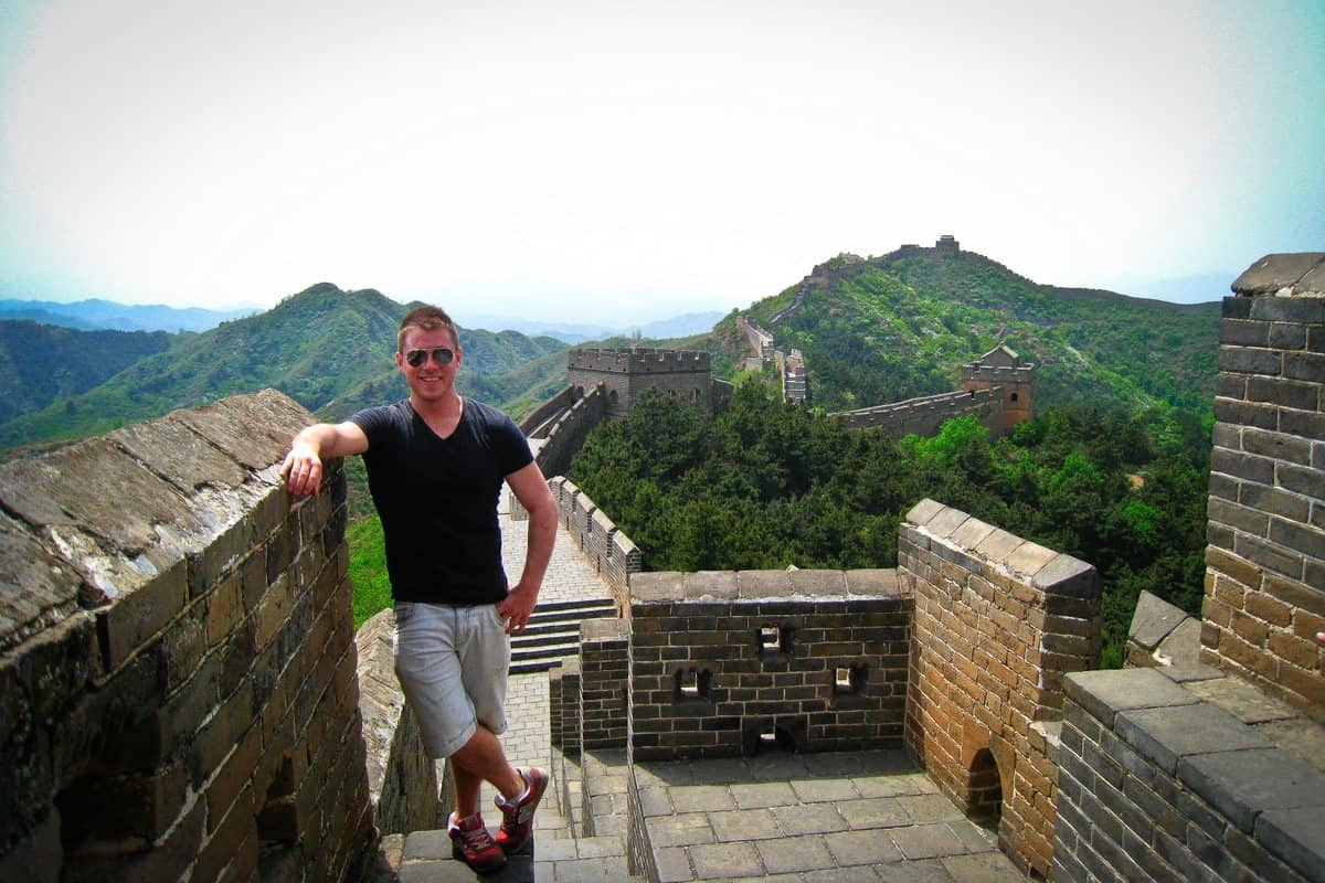 Jeremy on the Great Wall