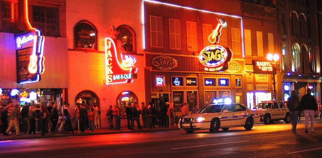 Nashville Nightlife Nashville Tennessee at Night