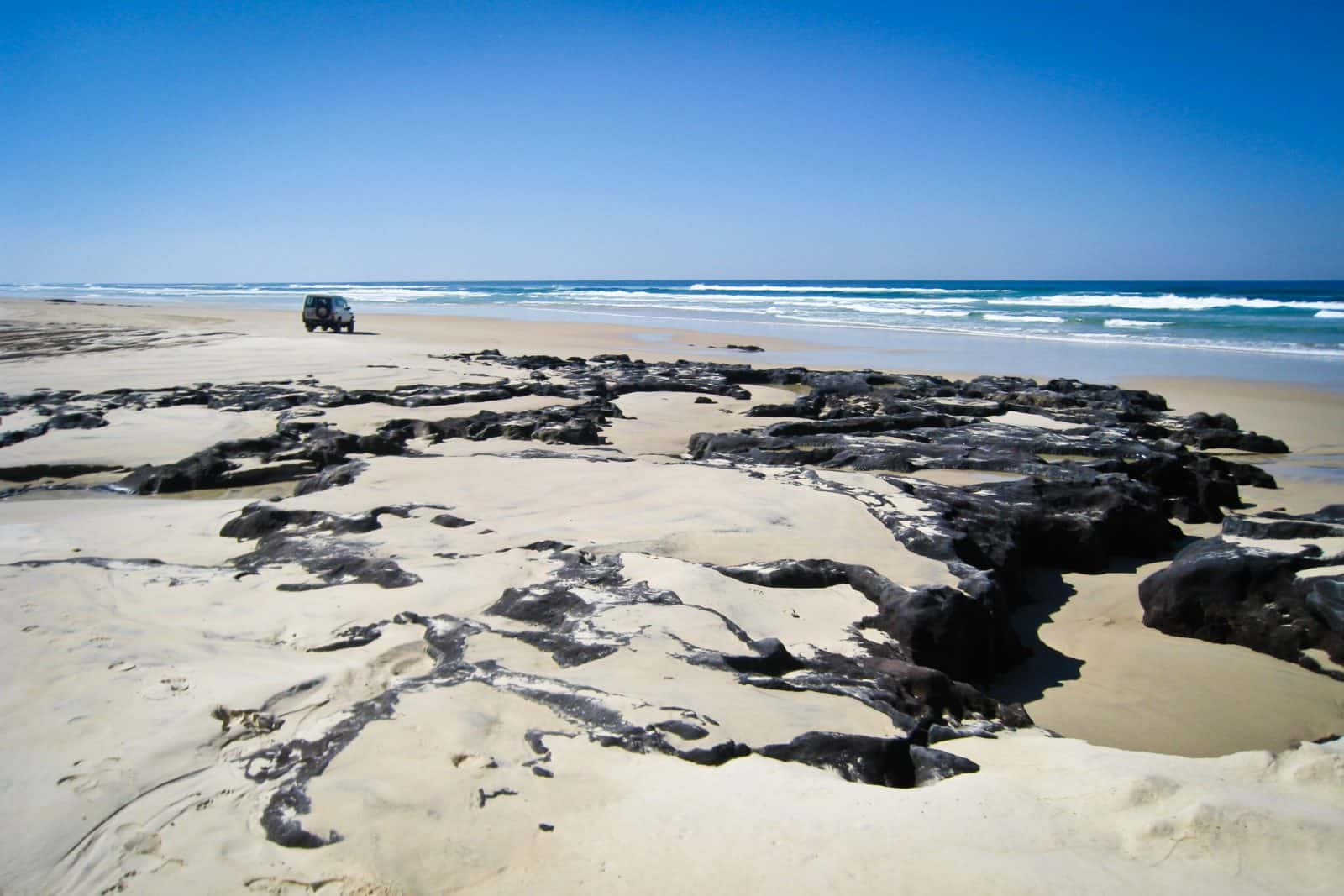 Four wheeling on Fraser Island
