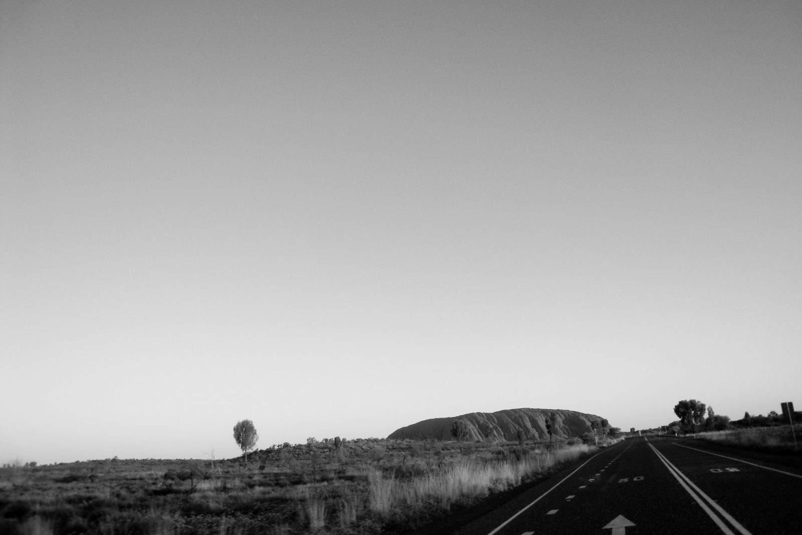 The highway leading to Uluru