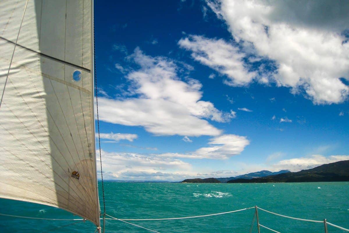 Sailing in the Abel Tasman National Park