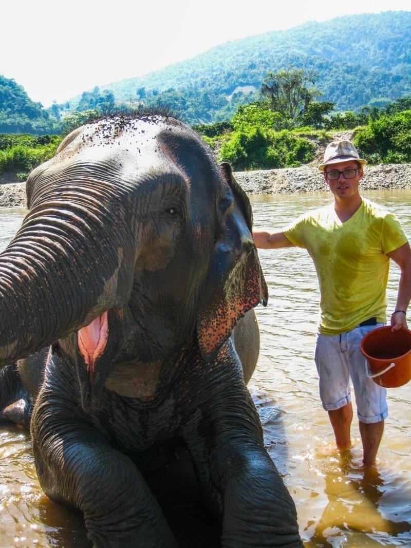 Jeremy at the Elephant Park