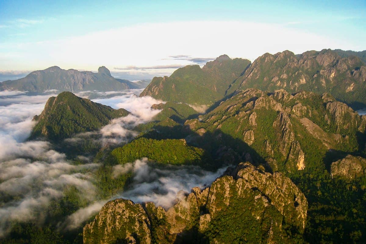 The mountains of Vang Vieng