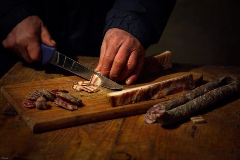 Istrian Pancetta (ham) and Kobasice (sausages)