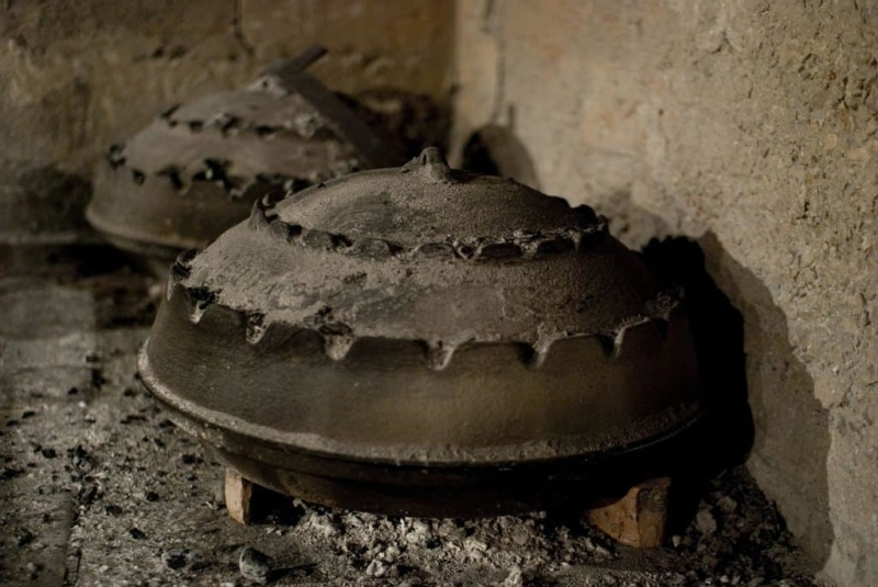 Traditional peka style cooking
