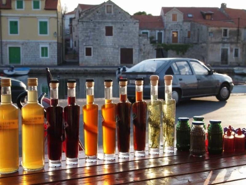 Local Croatian spirits