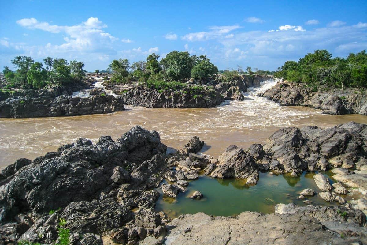 Waterfall in Southern Laos