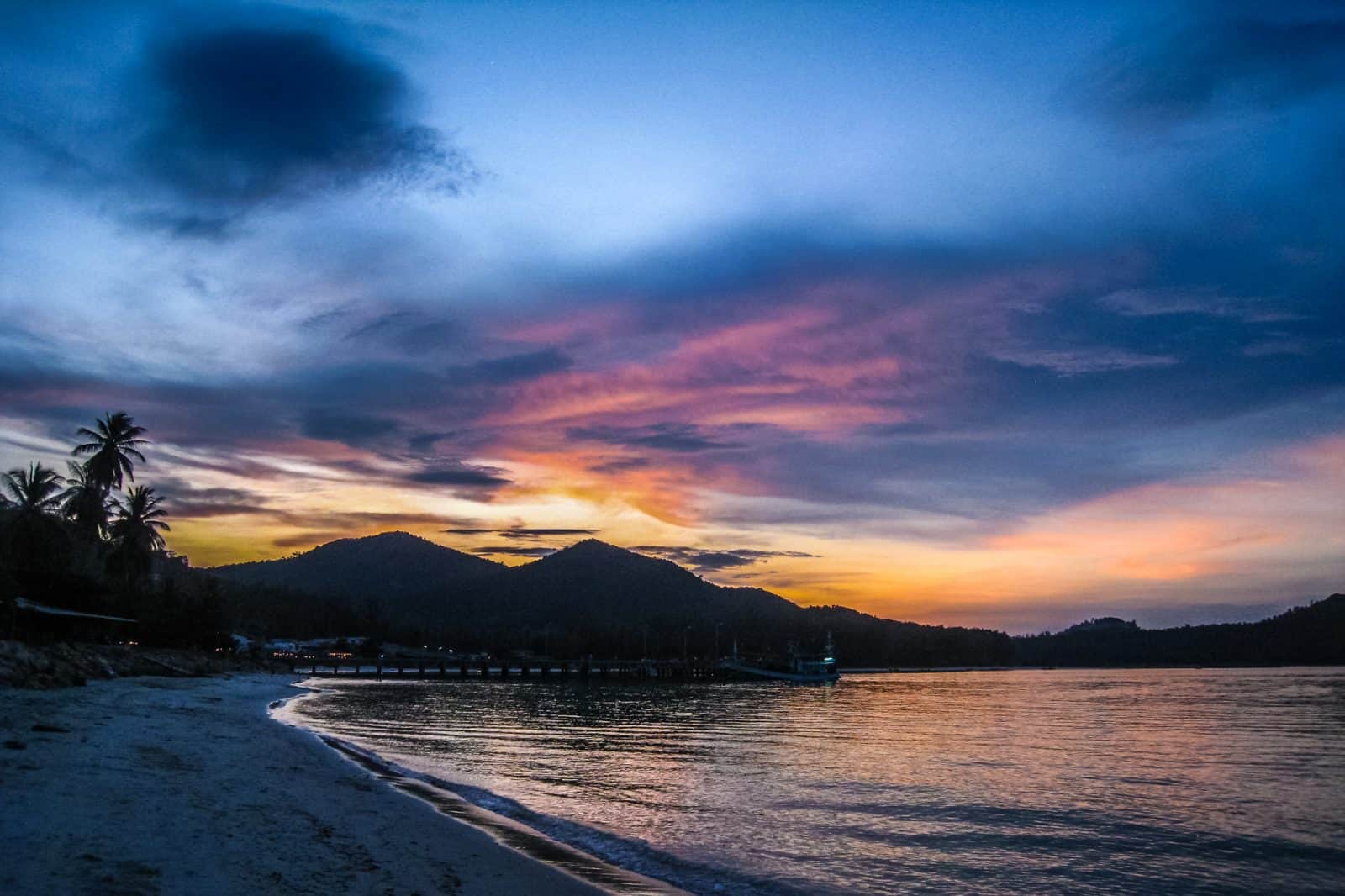 Sunset on Koh Phangan, Thailand
