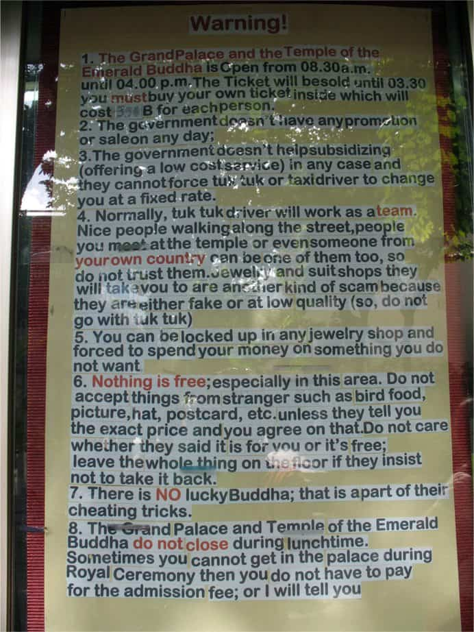 Warning Sign in Cambodia