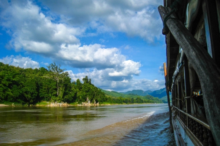 Taking the Slow Boat From Thailand to Laos (and Trying to Bribe the Border Patrol)
