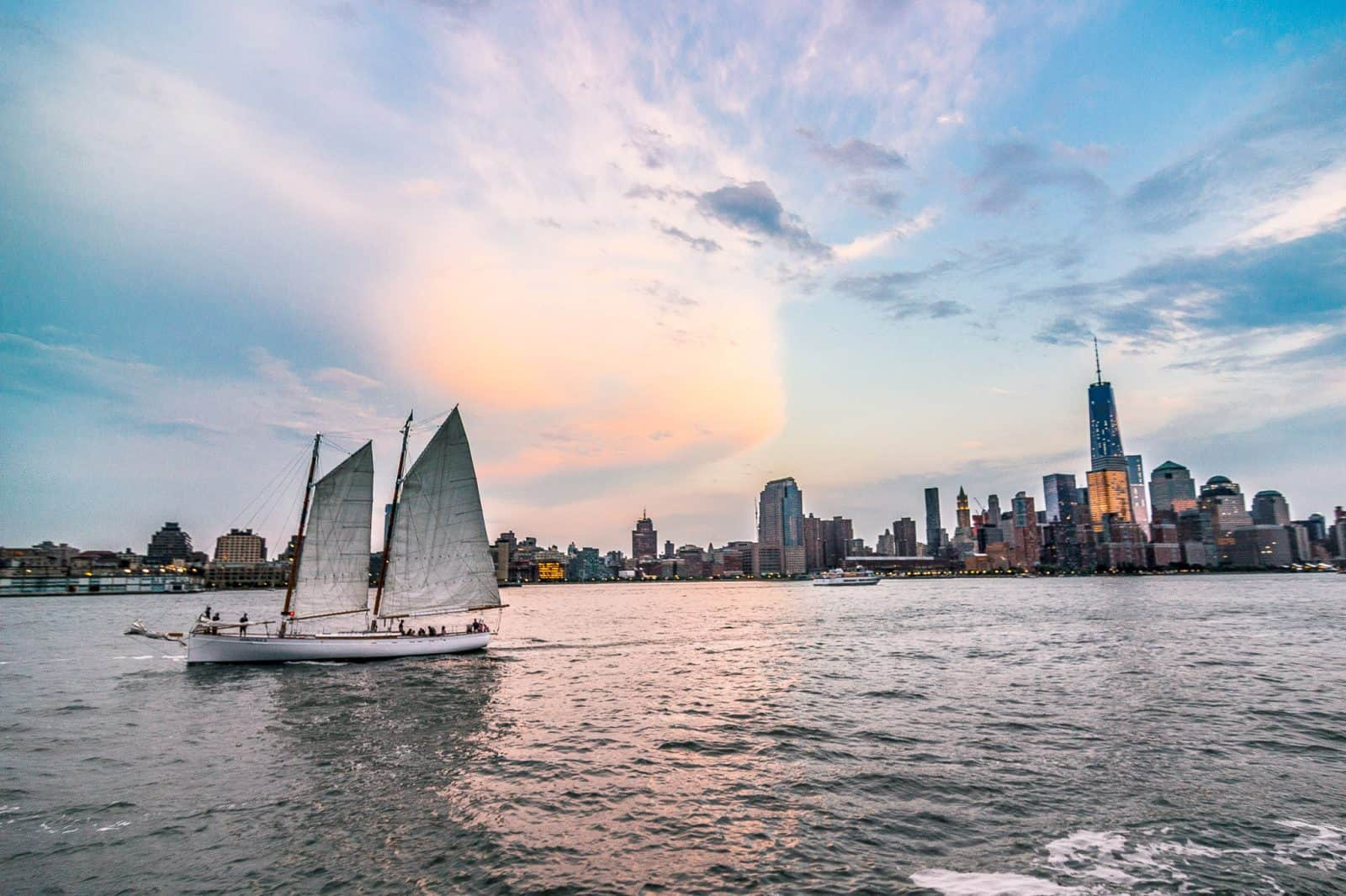 Sailing in New York.