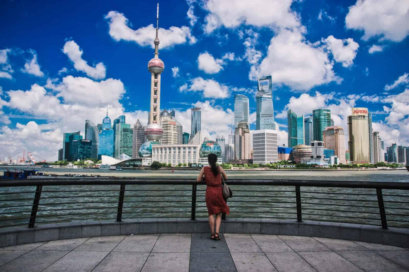 Views of Shanghai from The Bund