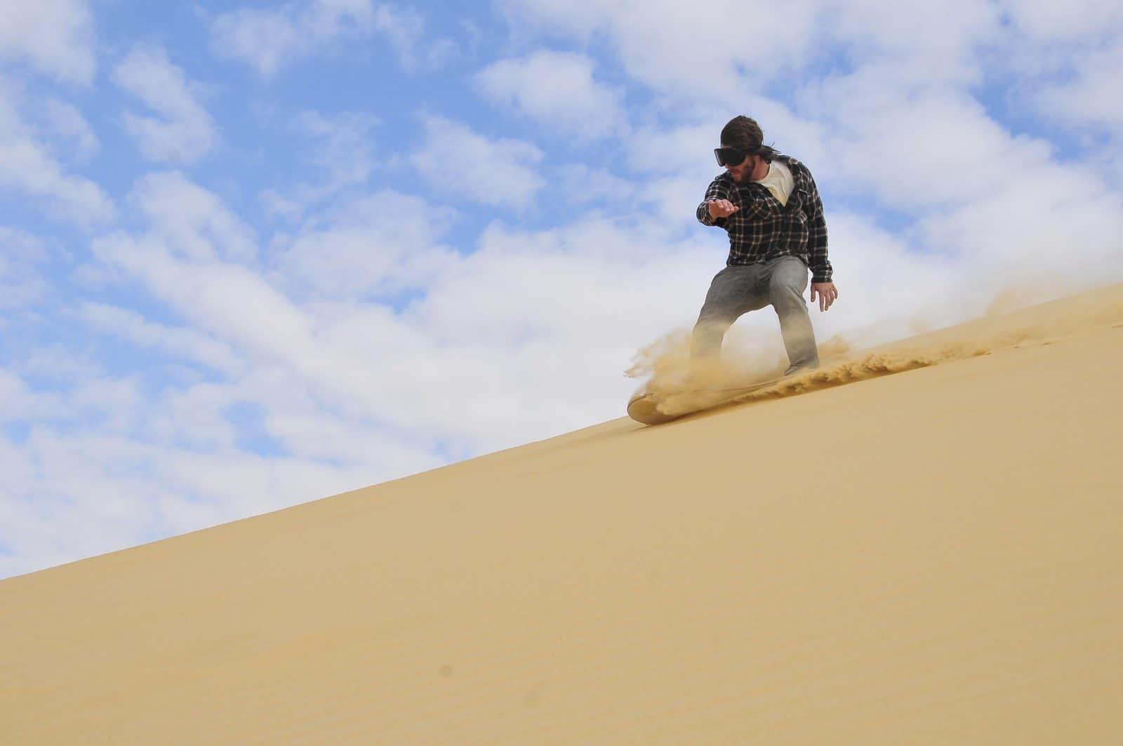 Sandboarding in Port Stephens