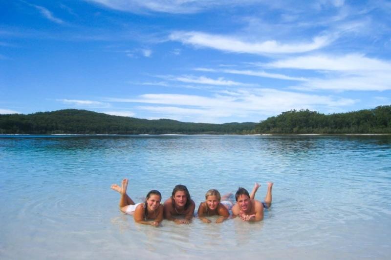 Friends on Fraser Islans