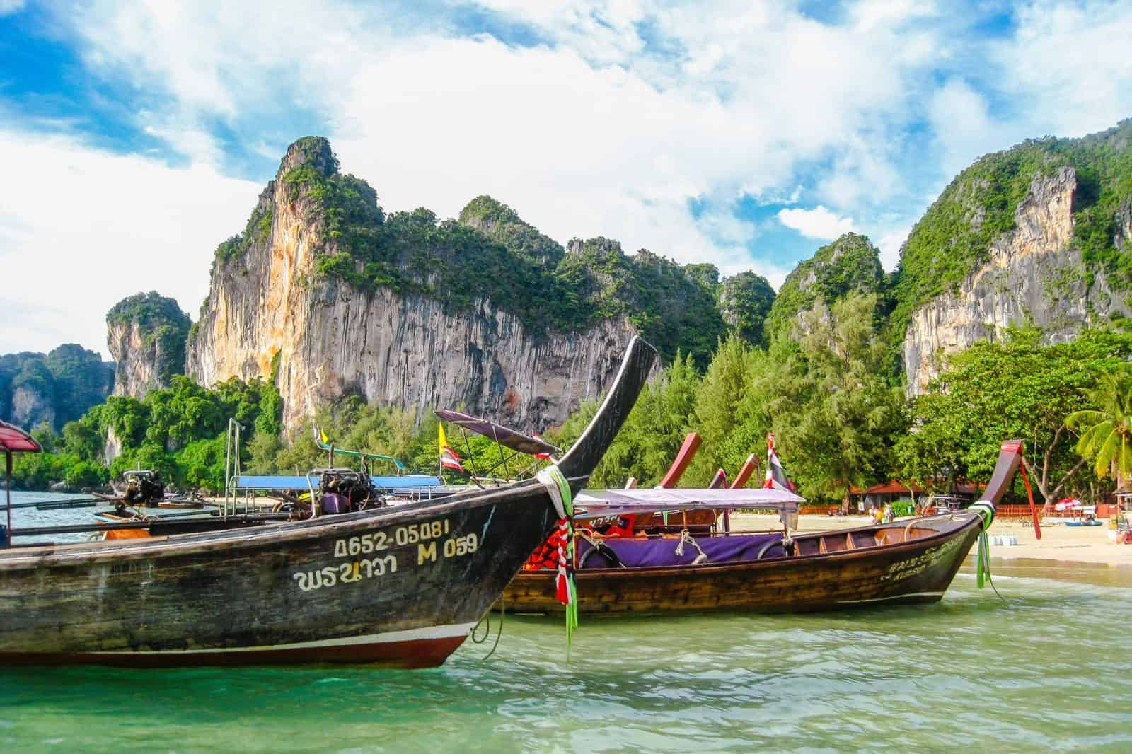 Boats in Railay, Thailand