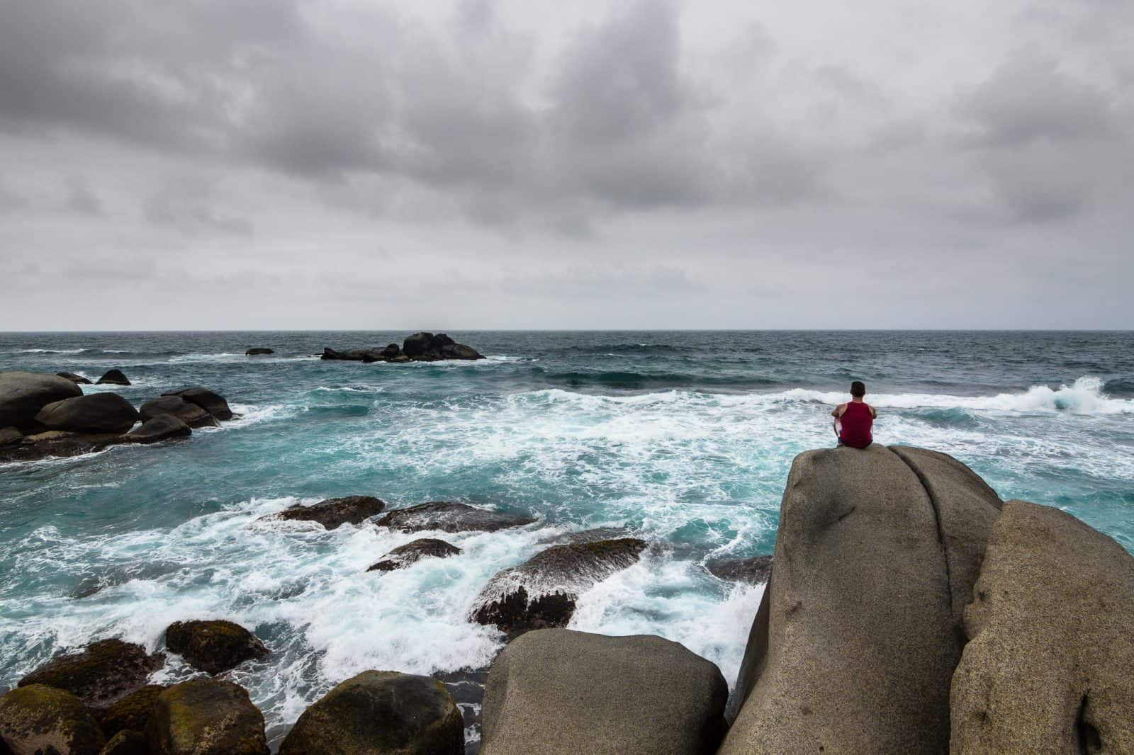 Stormy Caribbean Sea