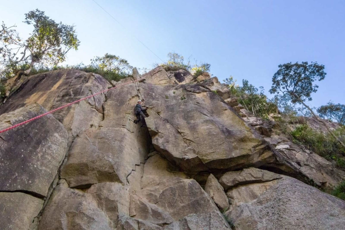 Rock climbing in Medellin, Colombia