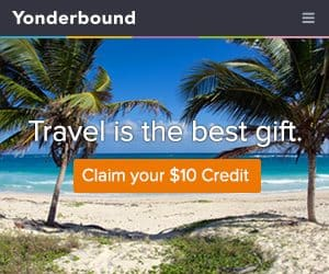 Yonderbound - Get $10 in Free Travel Credit