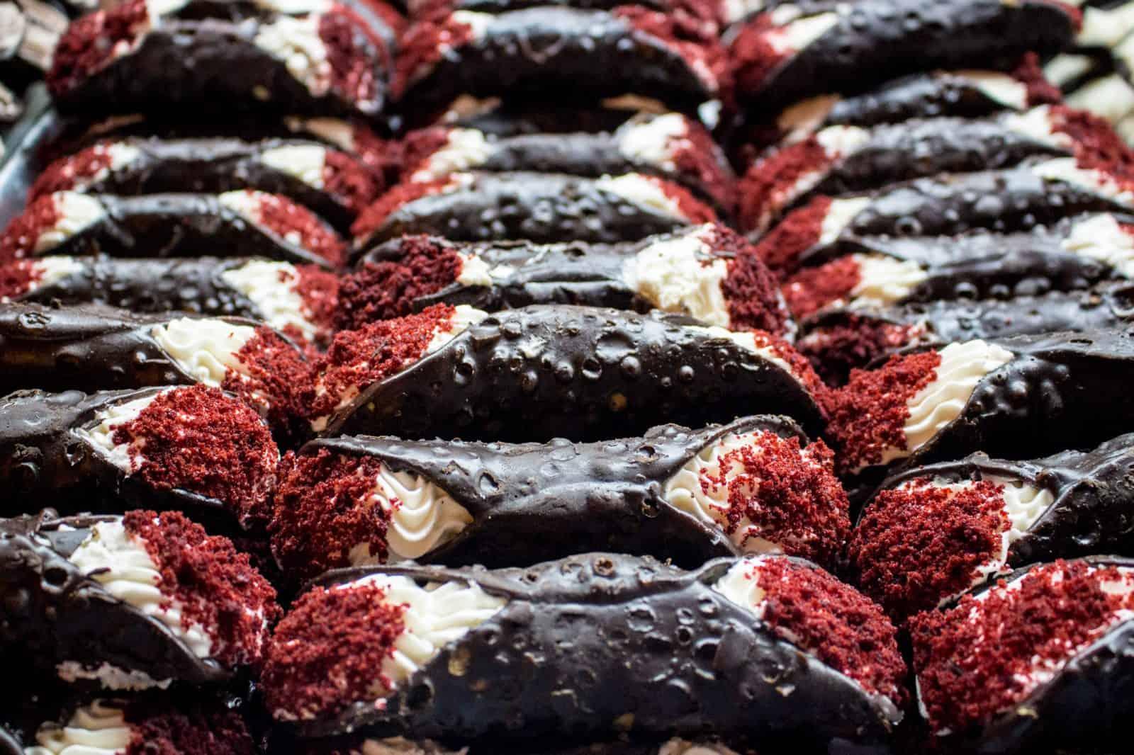 Red Velvet Cannoli from Ferrara Bakery & Cafe