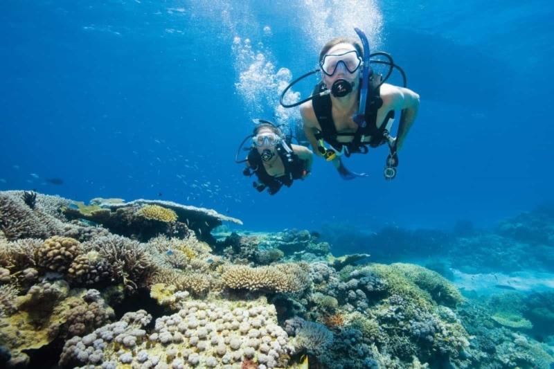 Scuba diving in warm Thai waters
