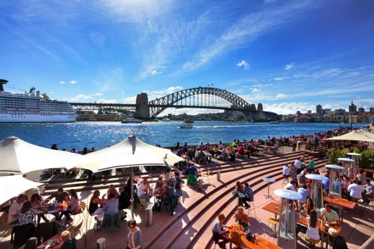 Overlooking the Sydney Harbour