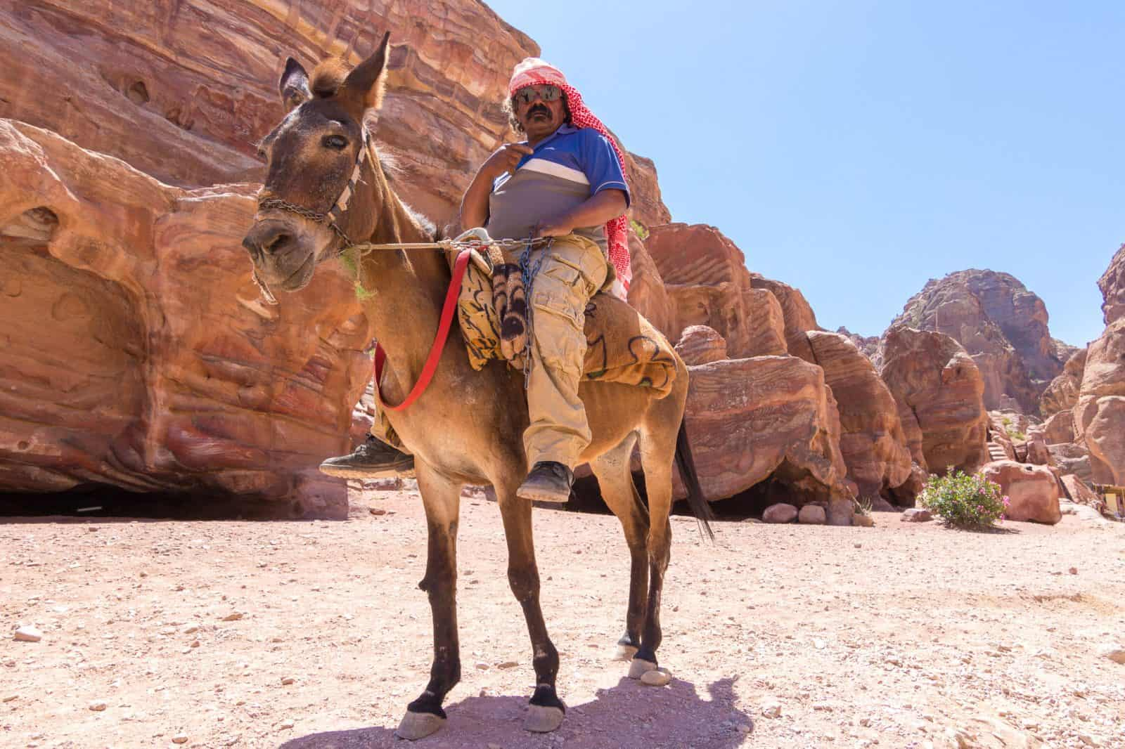 Just a man and his donkey, City of Petra, Jordan