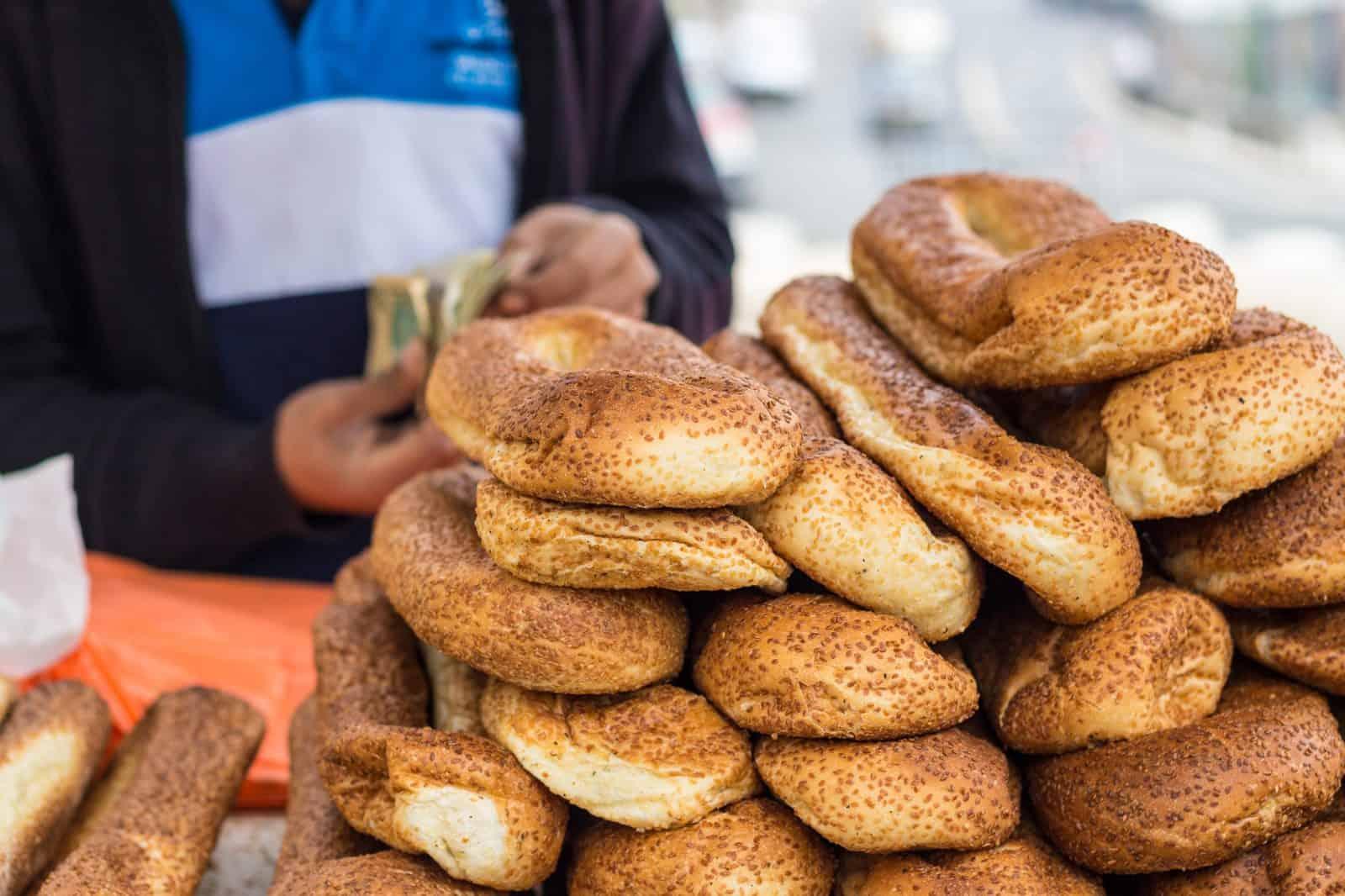 Bread stand in Jerusalem