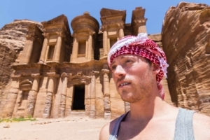 Free Climbing to the Top of the Monastery, Petra's Largest and Most Impressive Monument