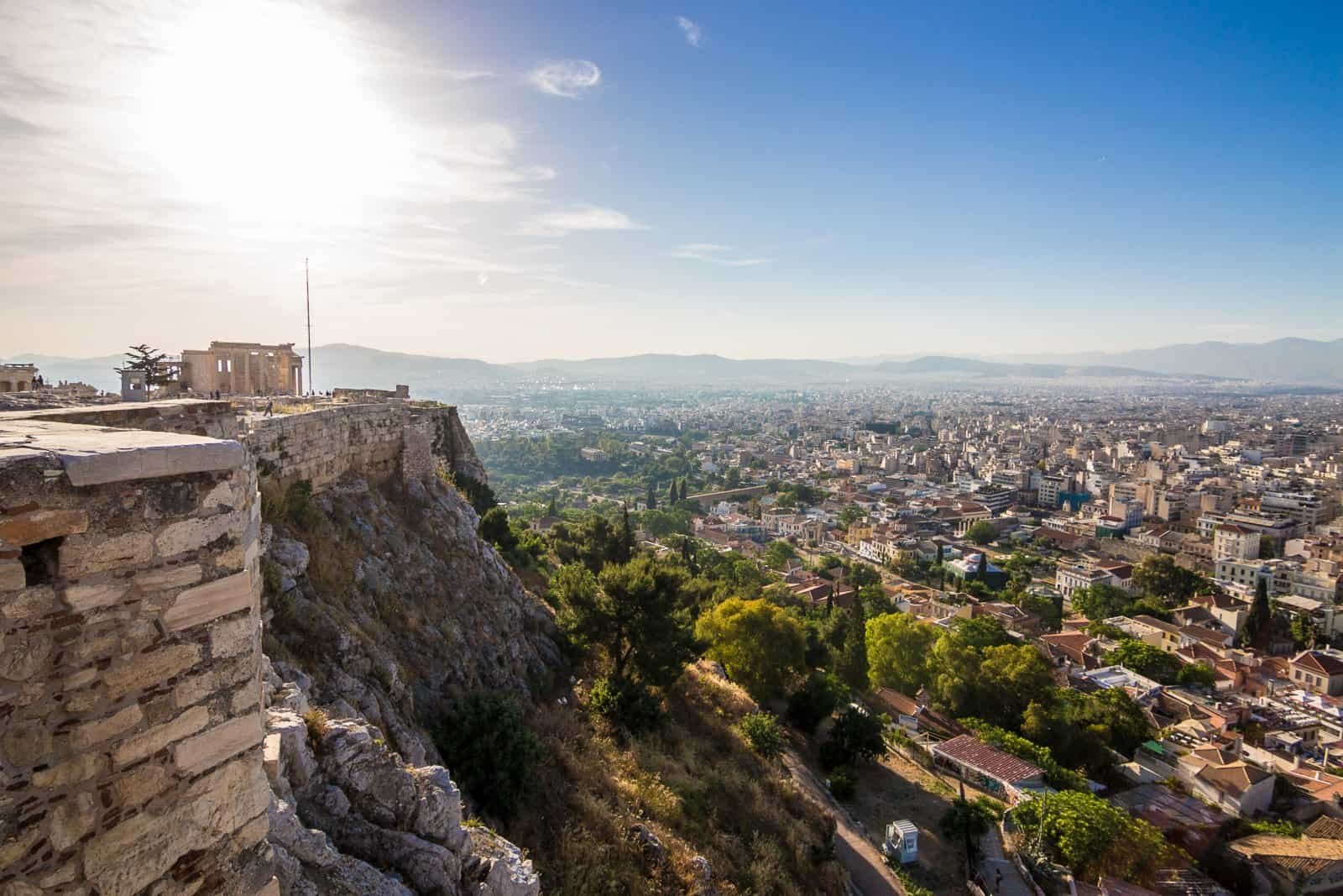 Aerial View of Athens, Pictures of Greece