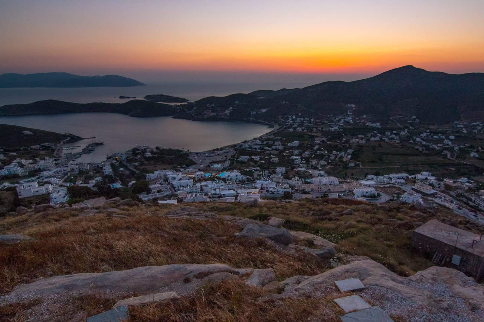 Sunset on the Island of Ios, Pictures of Greece