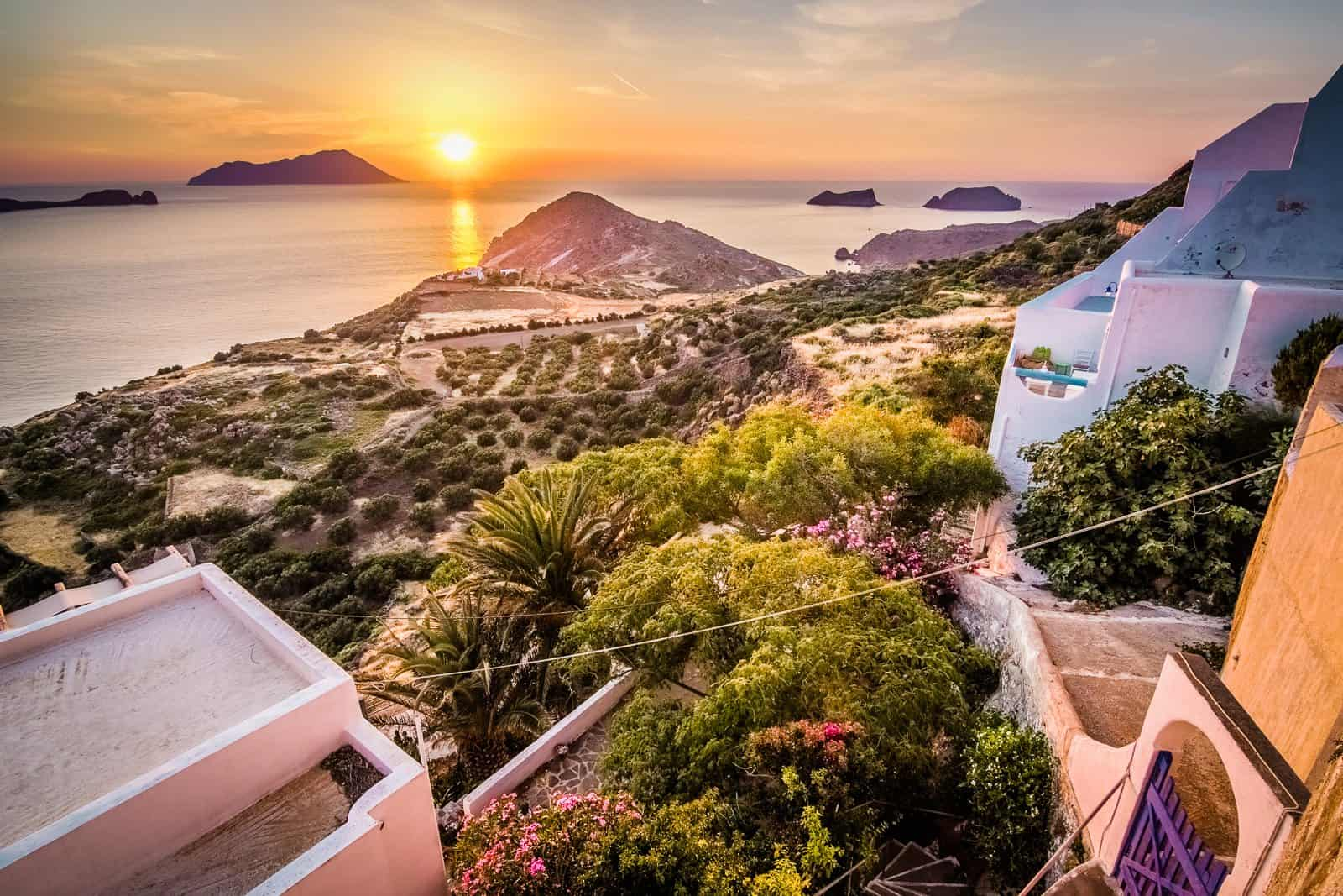 Sunset on the Island of Milos, Pictures of Greece