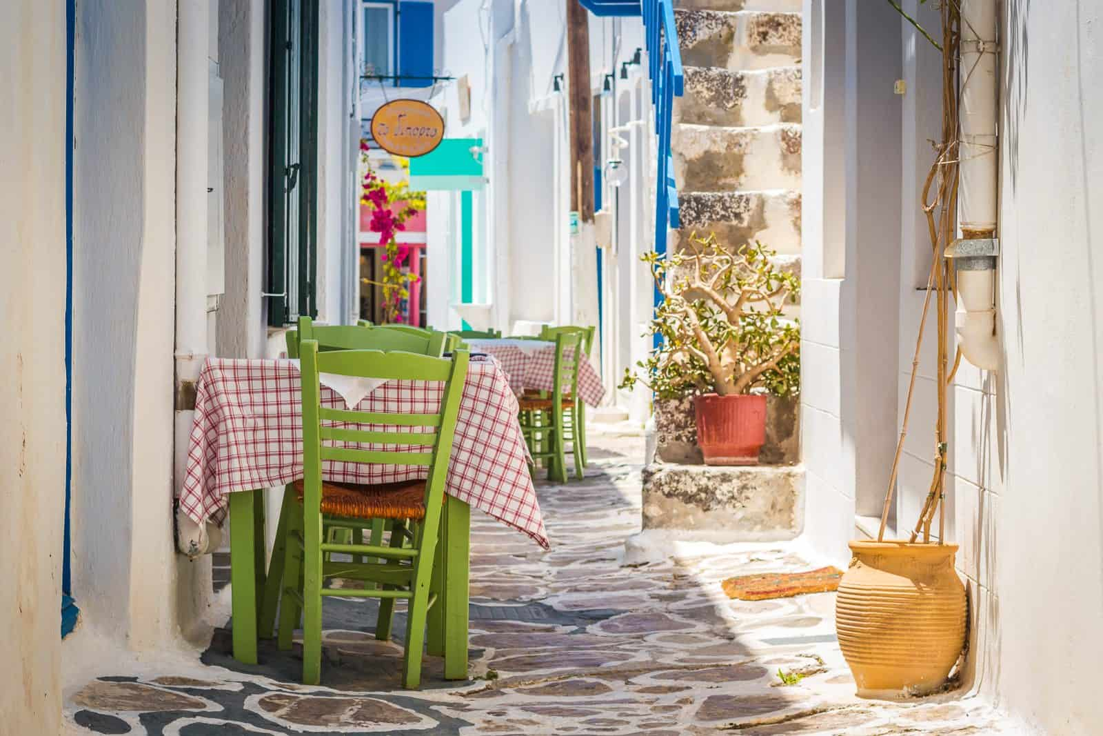 Table for Two, Plaka, Milos, Pictures of Greece