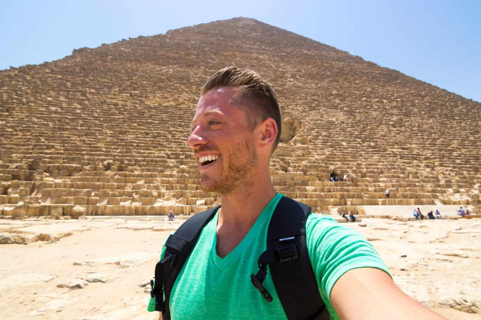 Selfie at the ancient Pyramids of Giza!