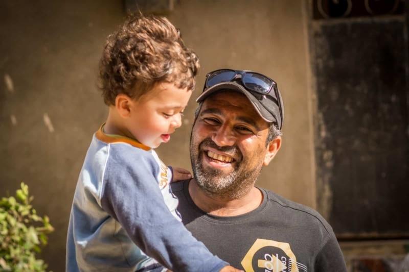 Rami Elshaer and his son, Loai