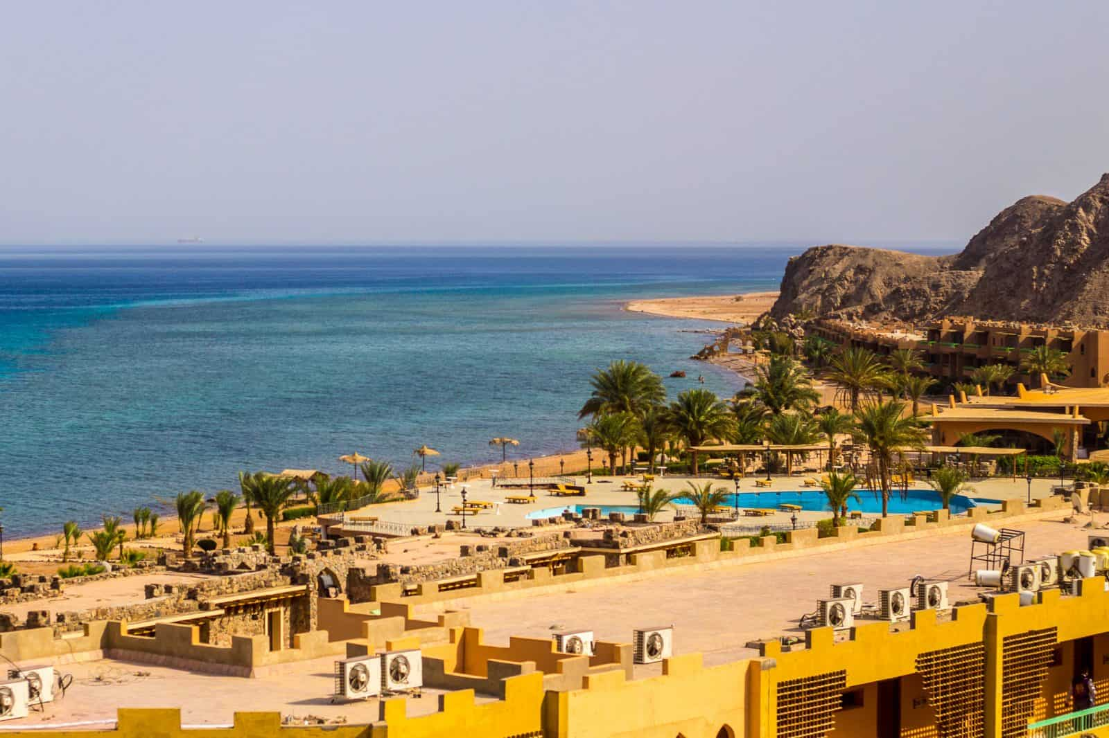 Empty resorts on the coast of Sinai