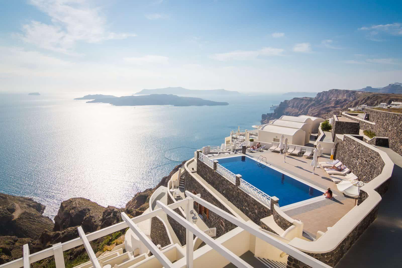 Santorini Swimming Pool, Pictures of Greece