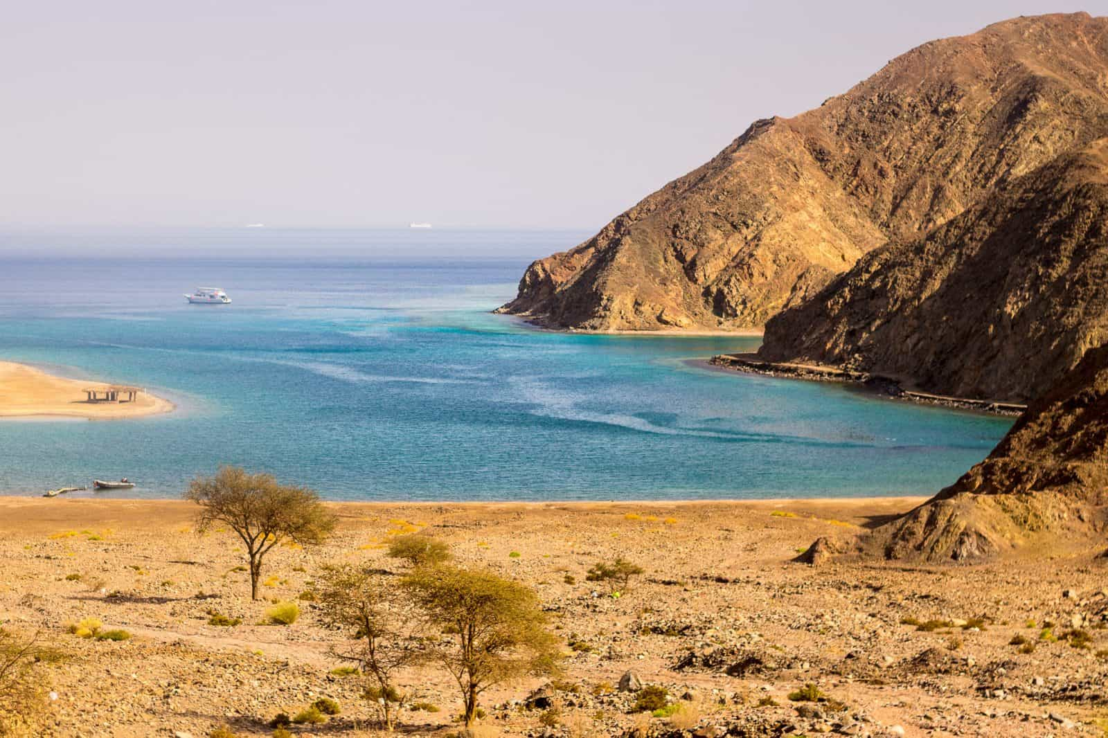 Views of the Red Sea from the Sinai coast of Egypt
