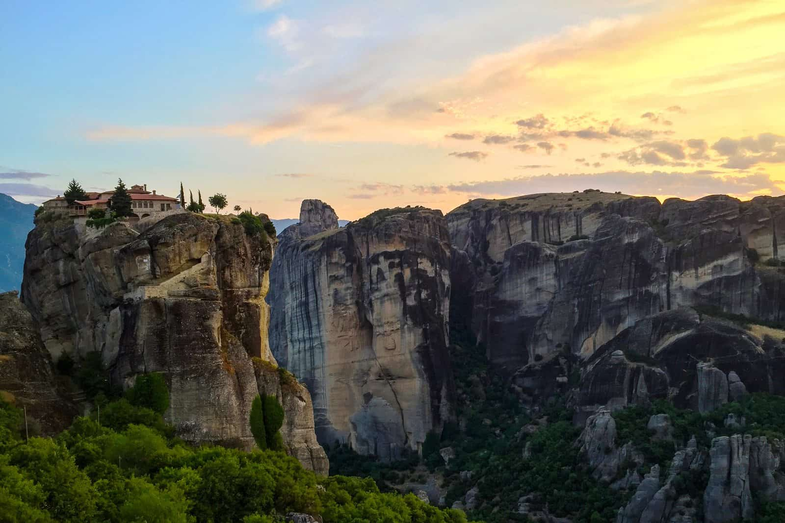 Sunset in Meteora, Pictures of Greece