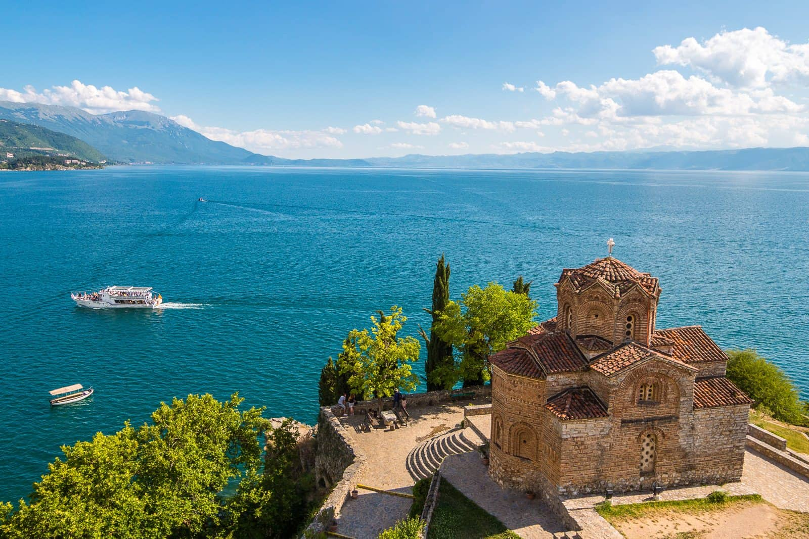 The Church of St. John at Kaneo. Ohrid, Macedonia.